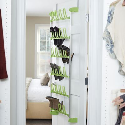 Household Essentials® 12-Pair Over-the-Door Shoe Rack in Lime