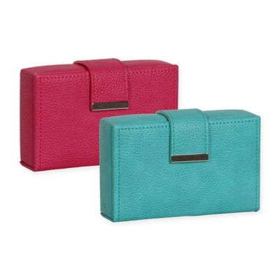 Mele & Co. Joni Faux Leather Travel Jewelry Case in Magenta