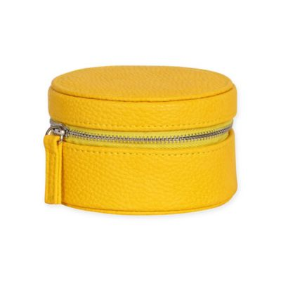 Mele & Co. Joy Faux Leather Travel Jewelry Case in Yellow
