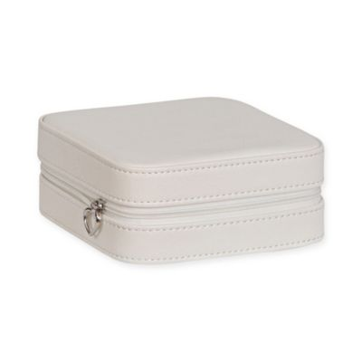 Mele & Co. Dana Faux Leather Travel Jewelry Case in Ivory