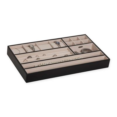 Mele & Co. Blake In-Drawer Faux Leather Jewelry Organizer in Black