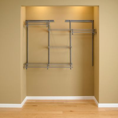 ClosetMaid® ShelfTrack® 4-Foot to 6-Foot Wire Closet Organizer Kit in Chrome