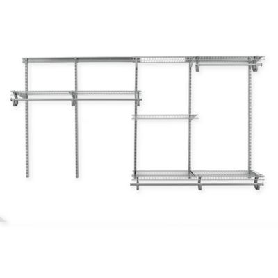 ClosetMaid® ShelfTrack® 5-Foot to 8-Foot Wire Closet Organizer Kit in Brushed Chrome