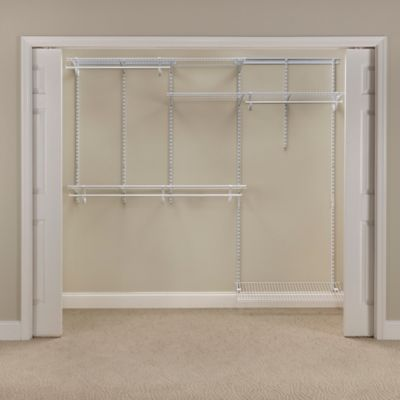 ClosetMaid® ShelfTrack® 5-Foot to 8-Foot Wire Closet Organizer Kit in White