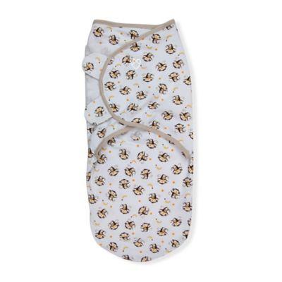 Summer Infant® SwaddleMe® Small/Medium Original Swaddle Monkey Swaddle in White/Brown