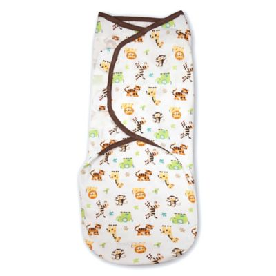 Summer Infant® SwaddleMe® Small/Medium Original Swaddle Graphic Jungle Swaddle in White/Tan