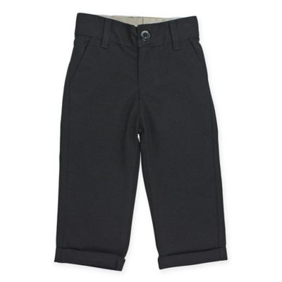 RuffleButts® RuggedButts® Size 3-6M Dress Pant in Black