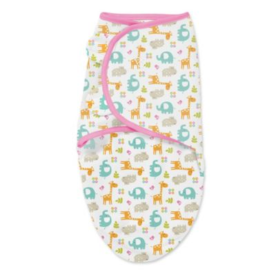 Summer Infant® SwaddleMe® Small Original Swaddle Jungle Swaddle in Pink