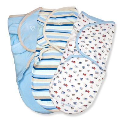 Summer Infant® SwaddleMe® 3-Pack Small/Medium Original Swaddle Beep Beep Swaddles in Blue