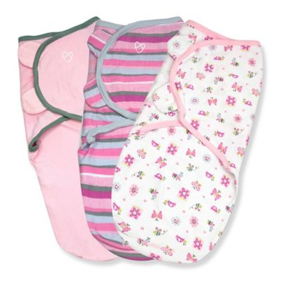 Summer Infant® SwaddleMe® 3-Pack Small/Medium Original Swaddle Girly Bug Swaddles in Pink