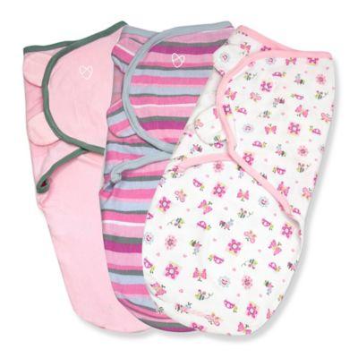 Summer Infant® SwaddleMe® 3-Pack Small/Medium Original Swaddle Girly Bug Swaddles in Pink