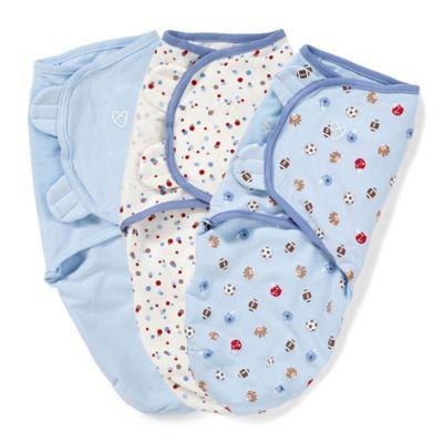 Summer Infant® SwaddleMe® 3-Pack Small/Medium Original Swaddle Sports Swaddles in Blue