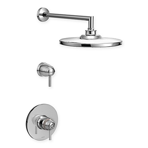 Buy Moen Arris Exacttemp 2 Handle Wall Mount Shower Faucet Trim In Chrome From Bed Bath Beyond