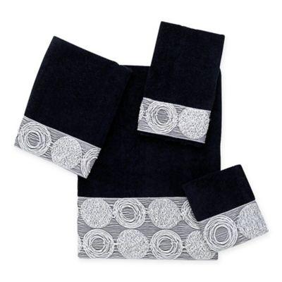 Avanti Galaxy Bath Towel in Black