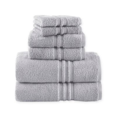 Under the Canopy Unity 6-Piece Towel Set in Chrome
