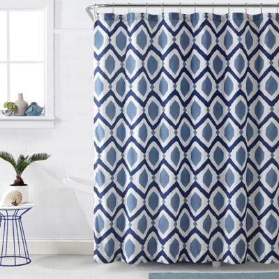 VCNY Santa Fe Shower Curtain in Navy/White