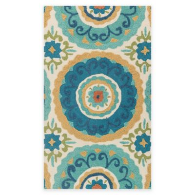 Loloi Rugs Olivia 2-Foot 3-Inch x 3-Foot 9-Inch Accent Rug in Ivory/Aqua