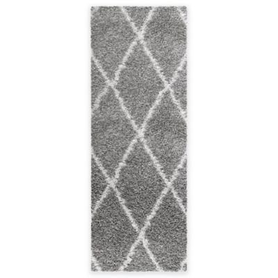 Cristal 1-Foot 8-Inch x 5-Foot Shag Runner in Diamond Grey