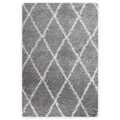Cristal 2-Foot 6-Inch x 3-Foot 9-Inch Shag Accent Rug in Diamond Grey