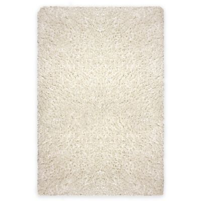Cristal 2-Foot 6-Inch x 3-Foot 9-Inch Shag Accent Rug in Ivory