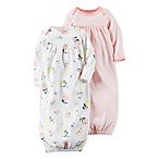 carter's® Newborn 2-Pack Babysoft Floral Sleeper Gowns