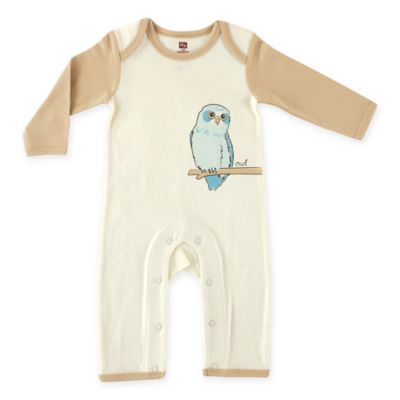 "BabyVision® Touched by Nature Size 0-3M ""Owl"" Organic Cotton Coverall in Brown"