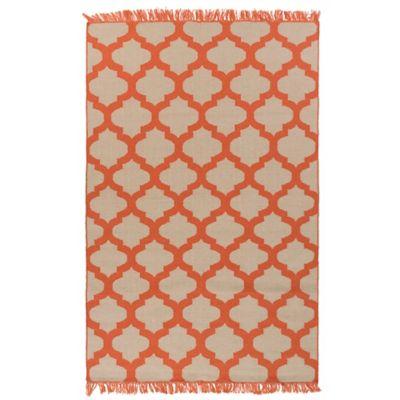 Surya Humphrey 2-Foot x 3-Foot Indoor/Outdoor Accent Rug in Orange