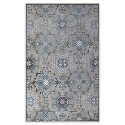Como 5-Foot x 8-Foot Area Rug in Blue/Grey