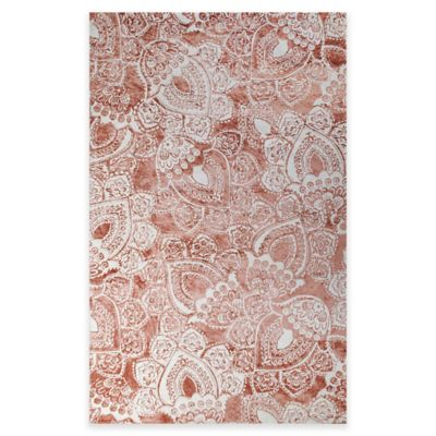 Farina Chenille 8-Foot x 11-Foot Area Rug in Coral