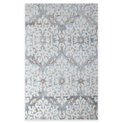 Romano Chenille 5-Foot x 8-Foot Area Rug in Light Blue