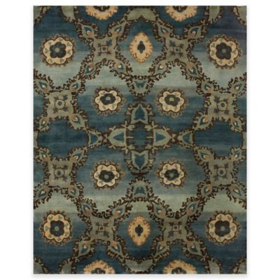 Feizy Amzad Kaleidoscope 5-Foot 6-Inch x 9-Foot 6-Inch Area Rug in Rust