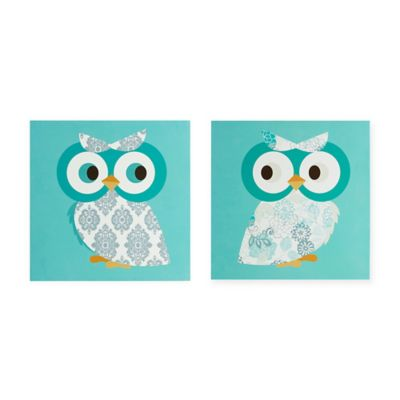 Mi Zone Hoot Hoot Wall Art (Set of 2)