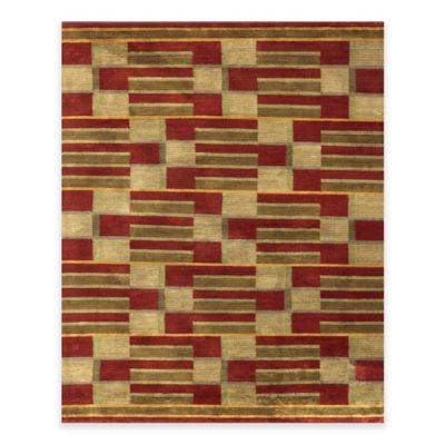 Feizy Keystone Boxed 4-Foot x 6-Foot Area Rug in Gold