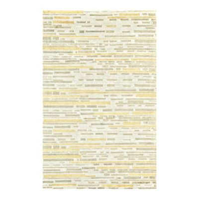 Feizy Keystone Lines 5-Foot 6-Inch x 8-Foot 6-Inh Area Rug in Sand