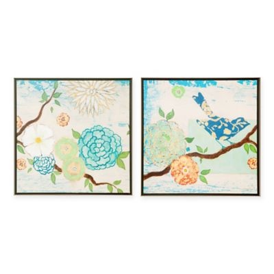 Intelligent Design Art Blooming Florals Wall Art (Set of 2)