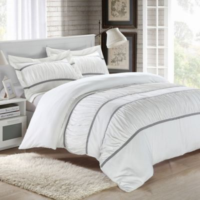 Chic Home Besily 7-Piece King Duvet Cover Set in White