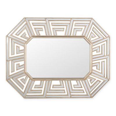 Verona Home 47.25-Inch x 36.6-Inch Adeline Geometric Mirror