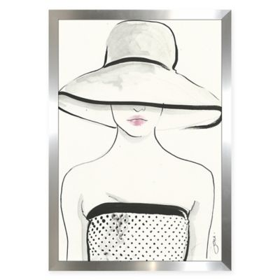 BY Jodi Throwing Shade White Aluminum Wall Art