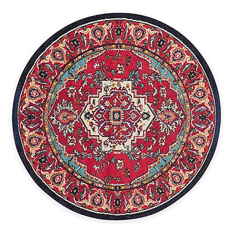 safavieh monaco traditional area rug in red turquoise. Black Bedroom Furniture Sets. Home Design Ideas