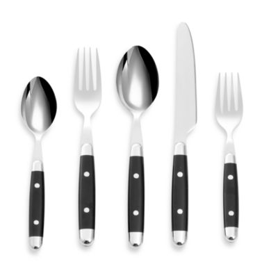 Cambridge® Silversmiths Jubilee Black 20-Piece Flatware Set