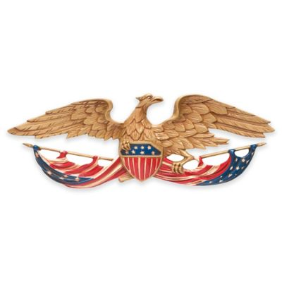 Whitehall Products Eagle 24-Inch Patriotic Wall Plaque