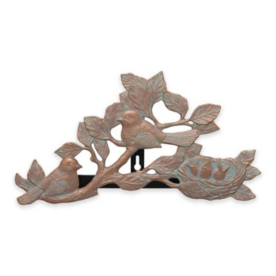 Chickadee Outdoor Hose Holder in Copper Verdi