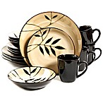 Gibson Elite Midnight Palm 16-Piece Dinnerware Set