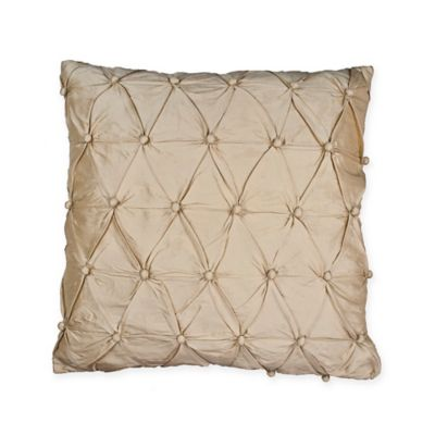 Sherry Kline Country Sunset Square Throw Pillow in Gold