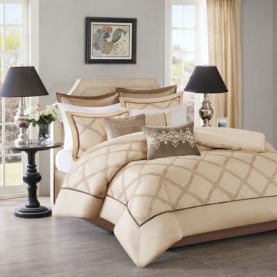 Bombay Teramo Queen Comforter Set in Grey