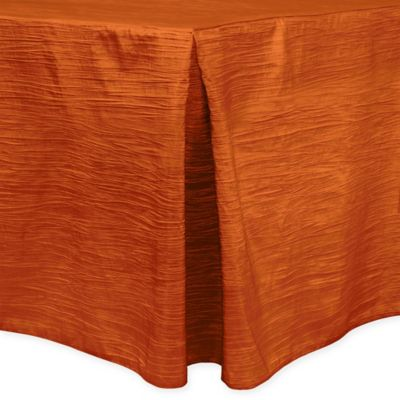 Delano 6-Foot Fitted Tablecloth in Fire Orange