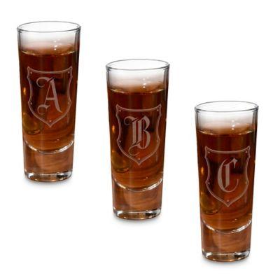 """Lillian Rose™ Monogram Letter """"B"""" Shot Glasses (Set of 4)"""