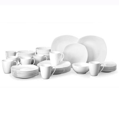Lenox® Boulder Creek 40-Piece Dinnerware Set in White