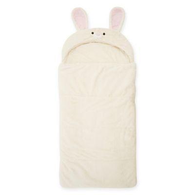 Décor Innovation Youth Faux Fur Rabbit Hood Sleeping Bag in Pink