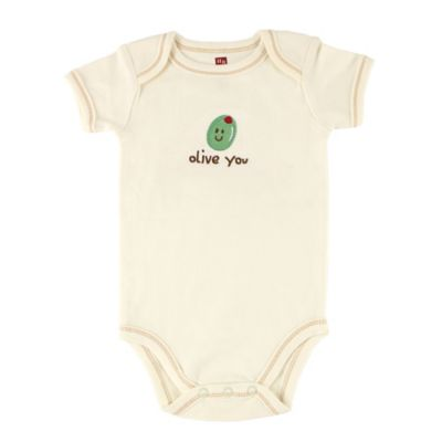 "BabyVision® Touched by Nature Size 0-3M ""Olive You"" Organic Cotton Bodysuit"